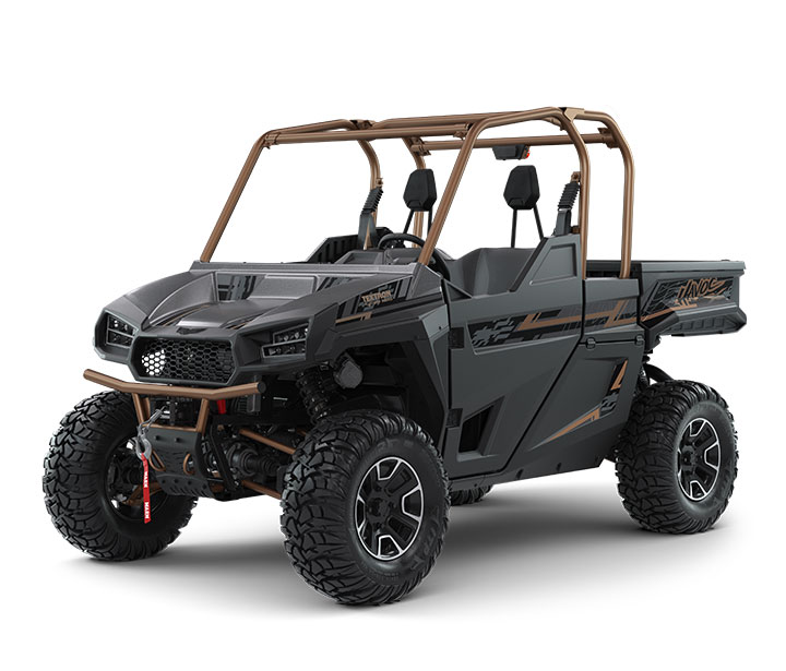 HAVOC X / 2-PASSENGER ($17,799)   Class-Leading 12.8-inch Front Suspension Travel  >>  FOX 2.5 PODIUM QS3 Shocks with Compression Adjustment  >>  Class-Leading 2,000-lb Towing Capacity  >>  Precision-Tuned 100HP EFI Engine  >>  Class-Leading 13-inch Ground Clearance  >>  67 lb-ft Torque  >>  Standard Brush Guard and 4,500-lb WARN Winch  >>  ITP Ultracross Tires and Aluminum Wheels    WATCH THE VIDEO    or    TAKE A VIRTUAL TEST DRIVE
