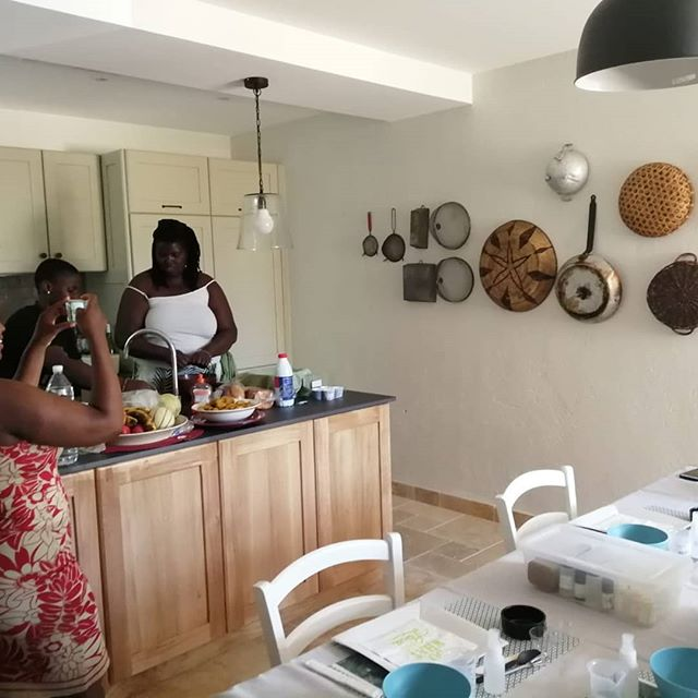 Cooking class with the girls .  #sweetangevineretreat #wombcare edition
