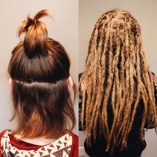 Before ➡️ after  Heyyo..there's a new dreadhead in the 605!   #dreadlocks #dreadlockstyle #siouxfallsdreadlocks #southdakota #southdakotadreadlocks #dreadstagram #girlswithdreads #guyswithdreads #dreadmaintenance #dreadlockmaintenance