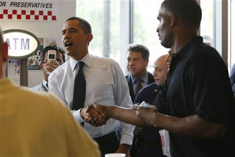 President Obama at  Five Guys