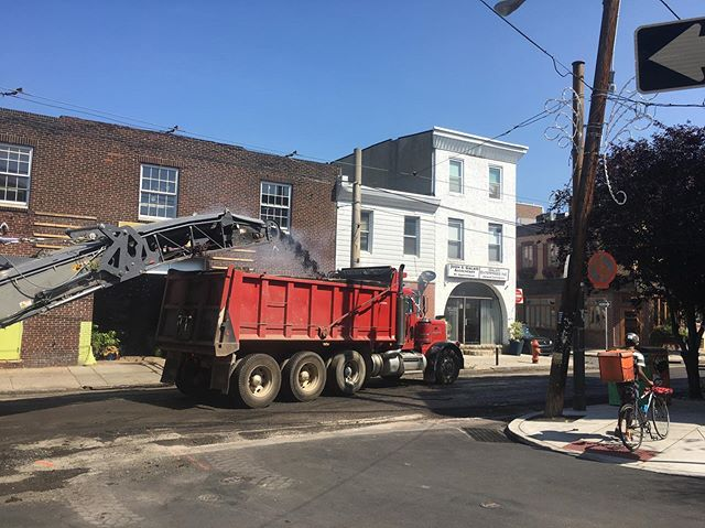 Looks like East Passyunk Avenue is getting a facelift. The street will be reopening shortly with partial closures through tomorrow. Don't worry, everyone is open!! If you were planning on ordering delivery, may we suggest @caviar ? They have a large bike-courier team and will likely be the quickest today.