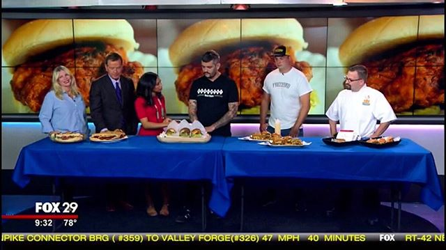 Redcrest was on @fox29philly this morning. We talked about supporting local companies in this ever growing #chickensandichwars #saynotochickfila #byebyepopeyes Thanks to @alexholleytv @mikejerrick @karenfox29 for having us in your studio!