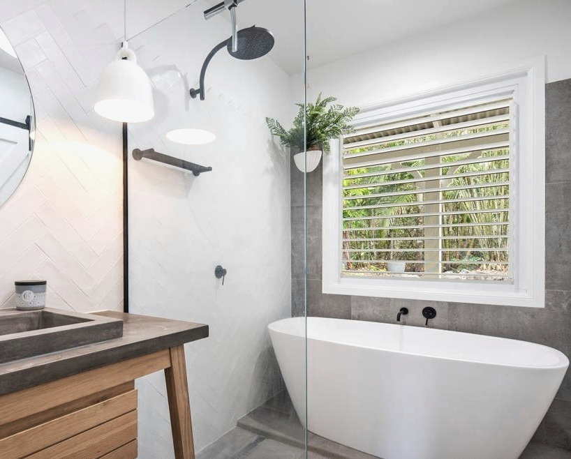 Contemporary bathroom in cottage style Air BNB