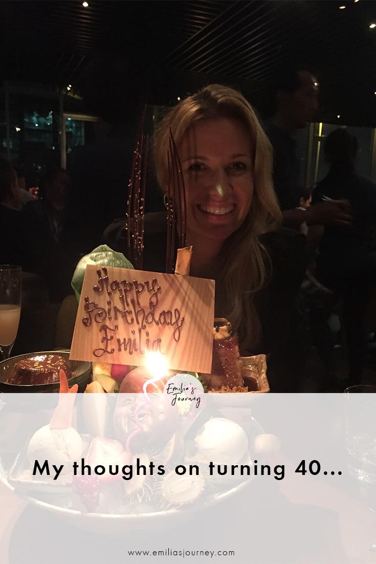 My thoughts on turning 40 | Emilia Ohrtmann