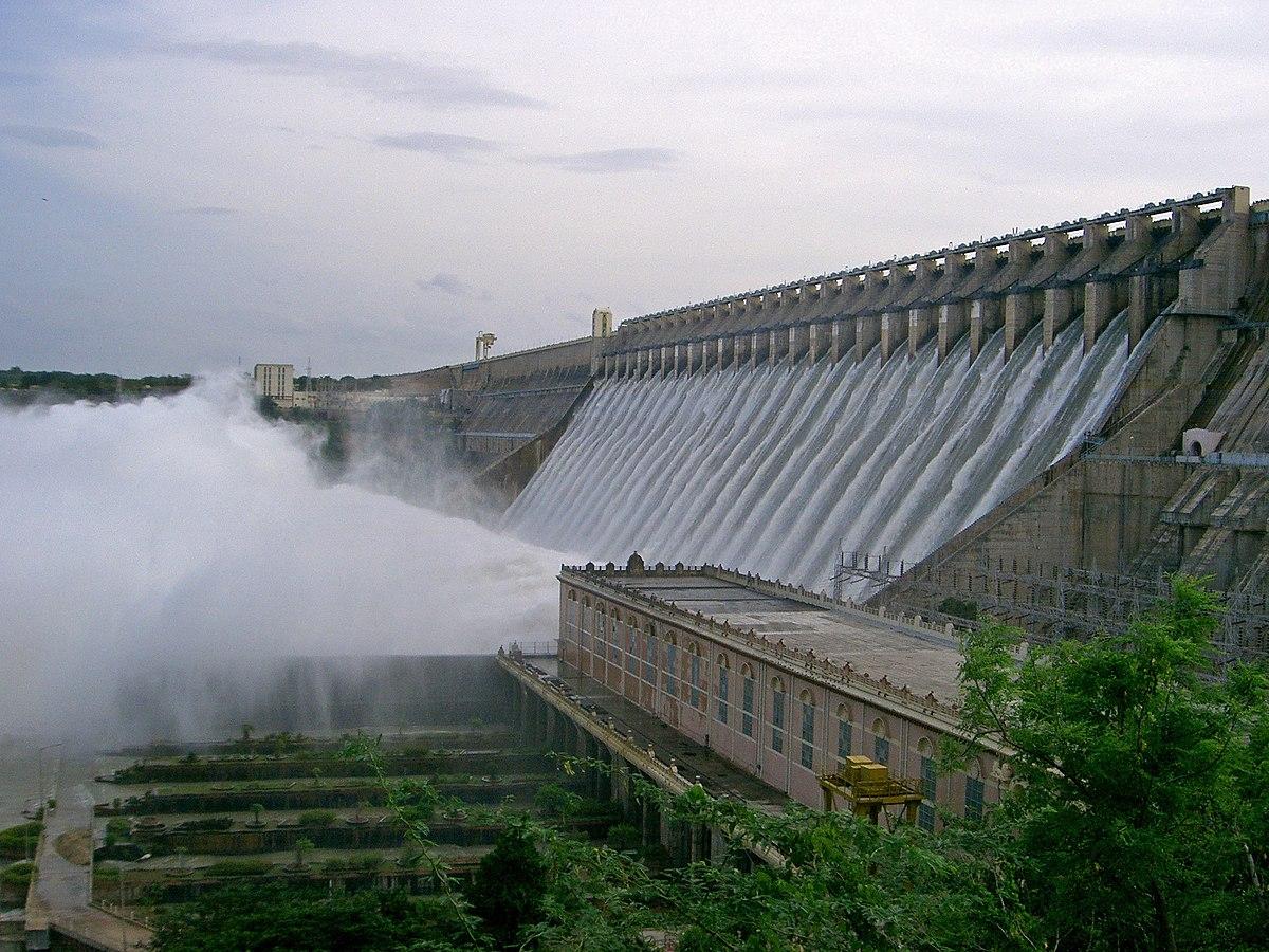 Flood control and hydro dam, Krishna River,  India