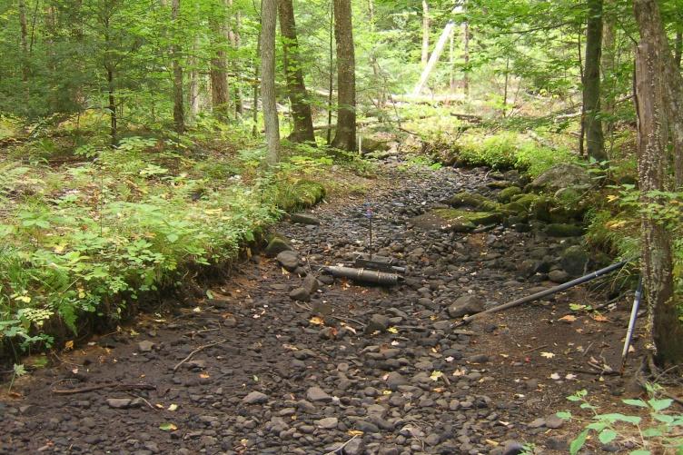 Dried waterway (University of New Hampshire)
