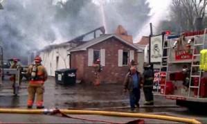 Fighting a fire in Troy, NH (Abby Spegman)