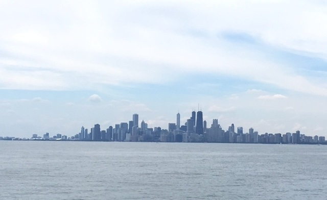 Chicago from Lake Michigan (Kate Rousmaniere)