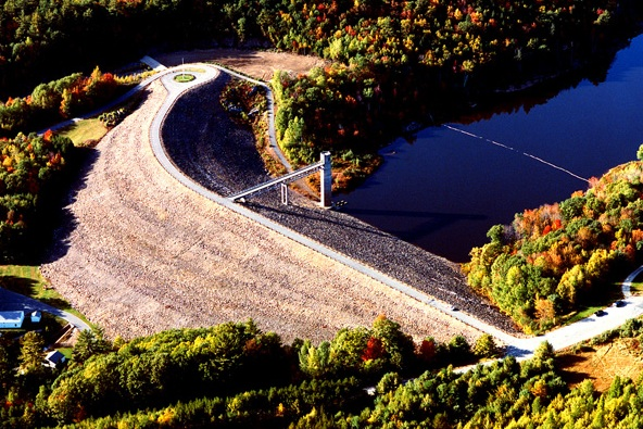 Otter Brook federal flood control dam, Roxbury, NH