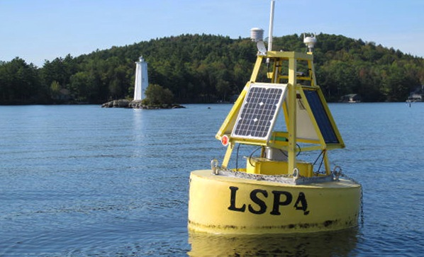 Data-collecting buoy, Lake Sunapee, NH
