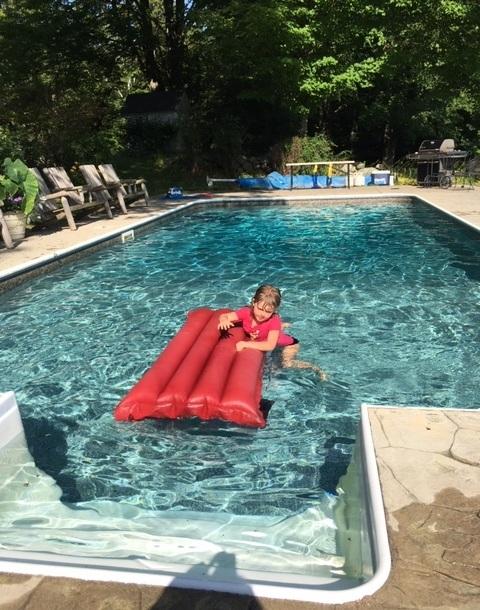 Splashing on a summer's day in Roxbury, NH