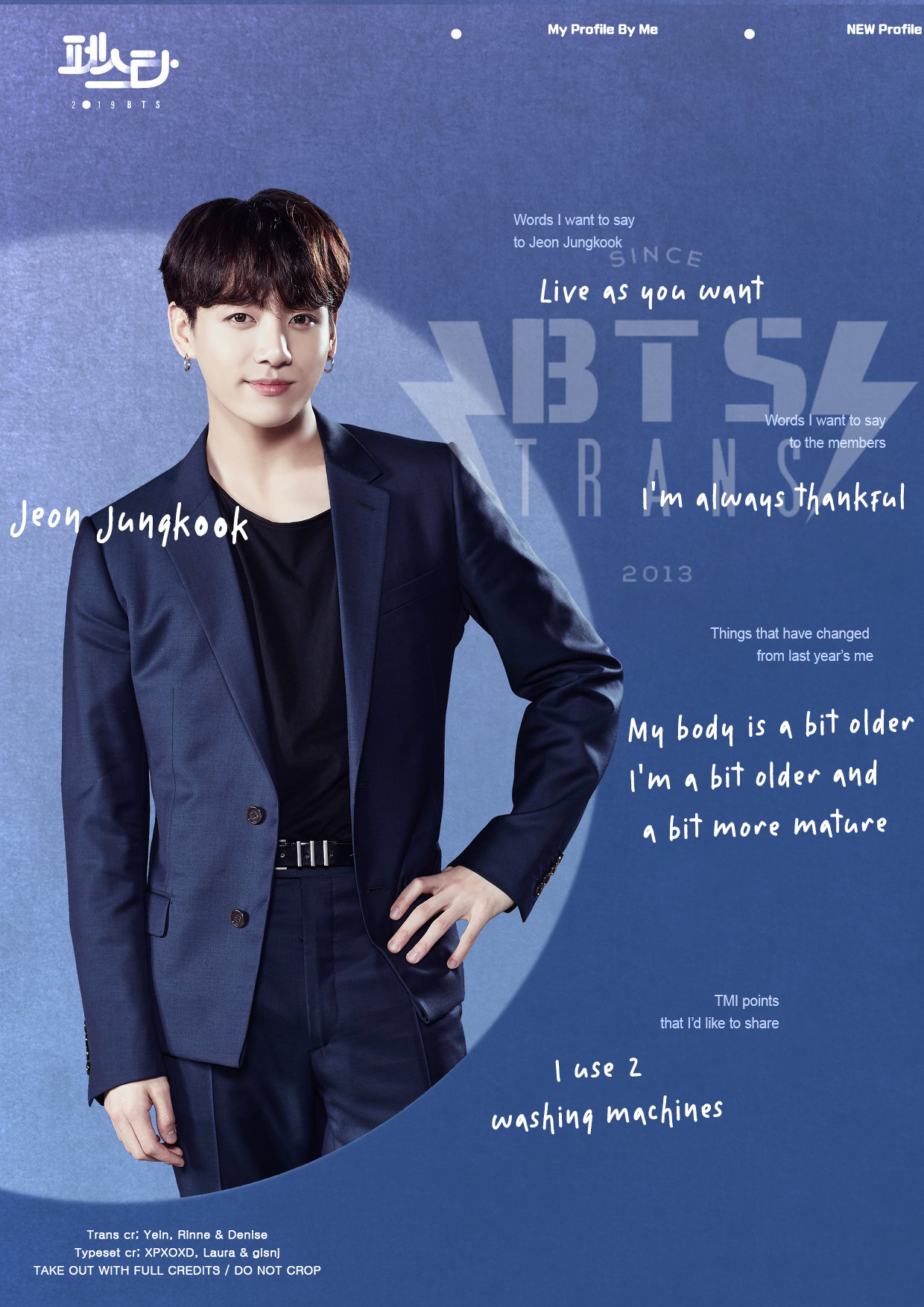 My Profile By Me (Version 1/3): Jeon Jungkook — BTS-TRANS