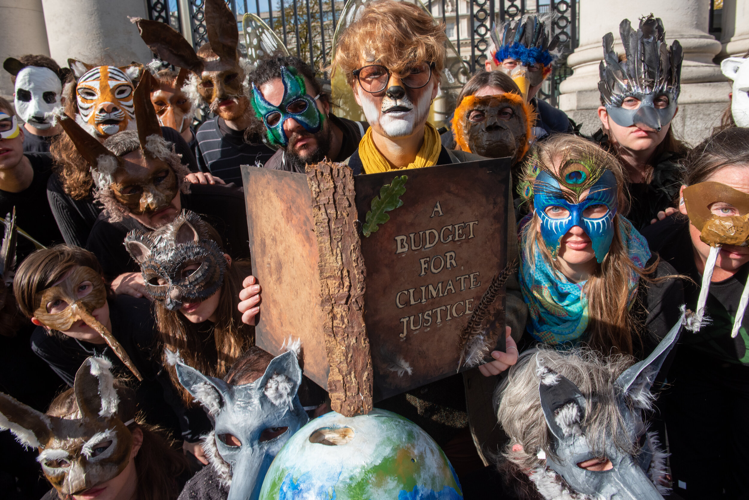 Extinction Rebellion delivers it's 'Budget for Climate Justice' to Leinster House on Budget Day 2019