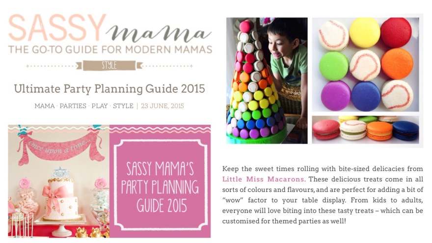Sassy Mama Ultimate Party Guide 2015 – 23 June 2015