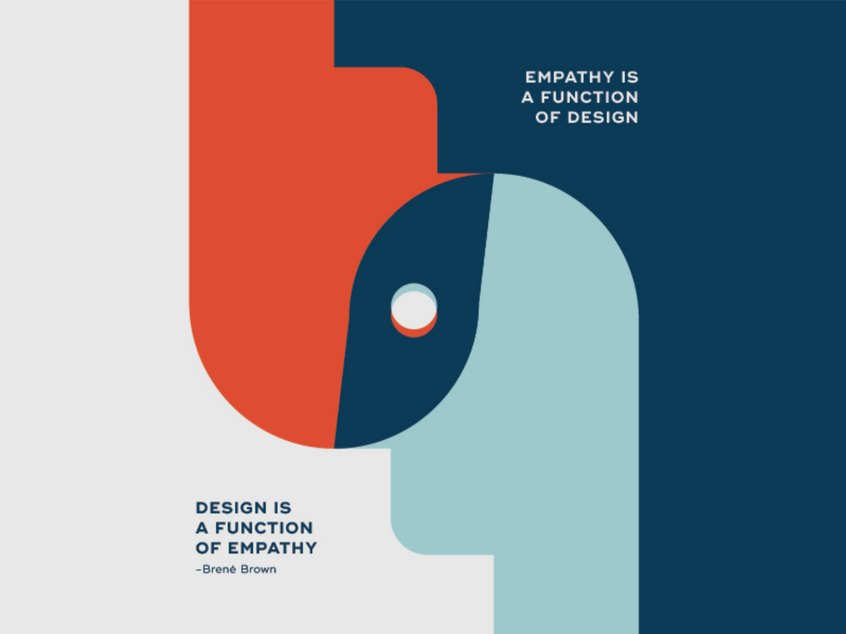 Empathy is one of design's most useful tools and that we are currently facing a deficit.