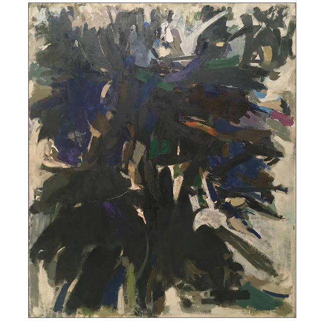 "#janicebiala #painterbiala: ""The Eagle Tree,"" Oil on canvas, 65 x 56 in. (165 x 142.2 cm) Collection of the Estate of Janice Biala   First exhibited in the artist's solo show at #StableGallery in 1959   #americaninparis #ladypainter #womenofabstractexpressionism #eagletree"
