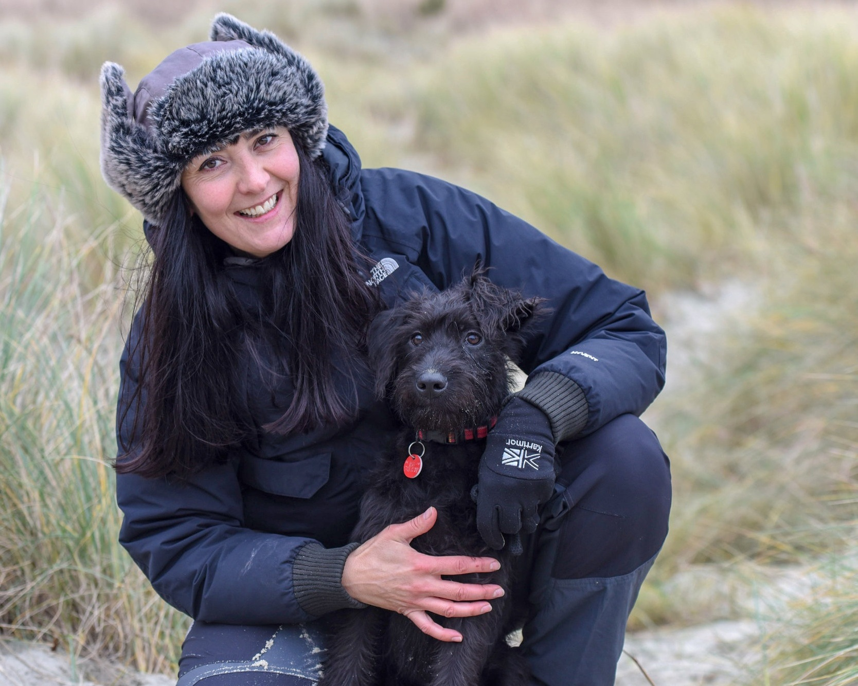 Angela Ross   After what was a part time job dog walking in 2014, I took the plunge in 2016 to commit myself full time to doing what I enjoy best. Walking your dogs!  I can honestly say its the best decision I have ever made. It truly is the best job in the world.  We always had animals in our family growing up but my dream one day was to have a dog of my own. My partner and I finally got a puppy beginning of October 2018, after I kept asking for 18 years. (My perseverance paid off!)  We also have two cats and a third cat who tends to visit on occasion.  I am a firm believer in positive reward based training and have wanted to work with animals since I was a child.   Completed Fear & Aggression Course    Trained Animal First Aider