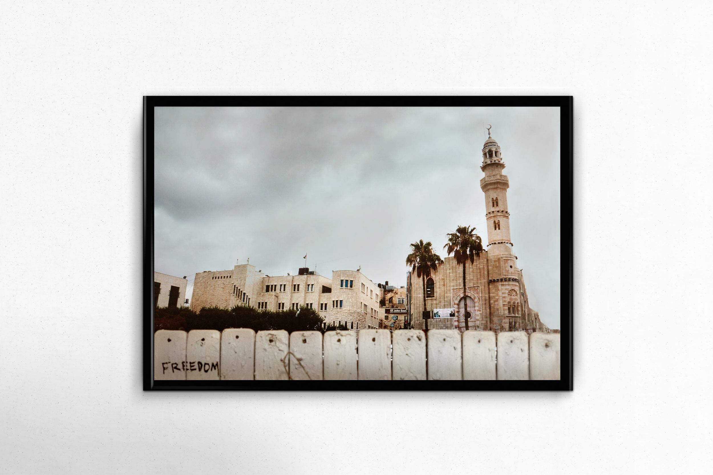 $150 donation - Crushing Walls Photo Print - No. 1 - Manger Square in Bethlehem14x11, unframed