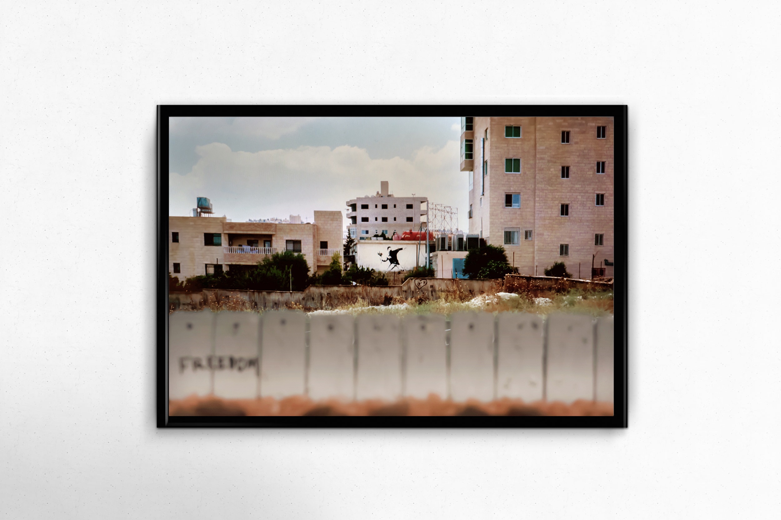 $150 donation - Crushing Walls Photo Print - No. 2 - Banksy in Bethlehem14x11, unframed