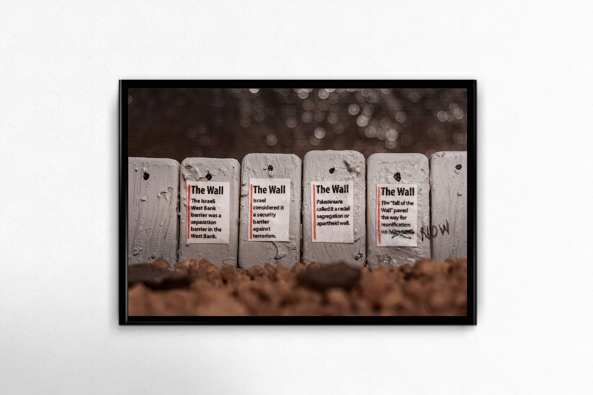 $150 donation - Crushing Walls Photo Print - No. 7 - Wall Signs14x11, unframed