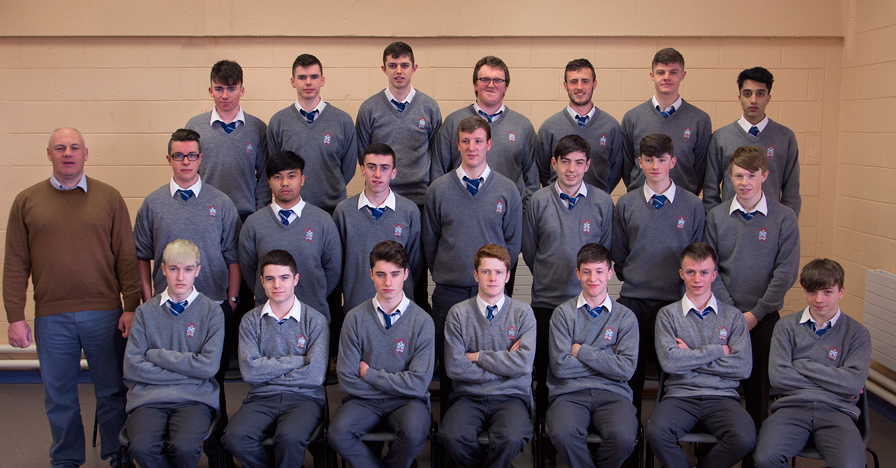 6.1 2016 Class   Front Row: Graham O'Mahoney, Scott Breen, Shane McCabe, Glen Mitchell, Ronan Levins, Rhys Sweeney, Adam Gorman  Middle Row: Mr. Kelly (Form Tutor) Danny Porter, Adrian Federis, Aaron Murray Dyas, Paul Matthews, Ryan O'Toole, Keith Gallagher, Peter Kirwan  Back Row: Killian Reilly, Cormac Hughes, Ciaran Walsh, Sean Thornton, Sam Reilly, Robert Sullivan, Usama Yasin