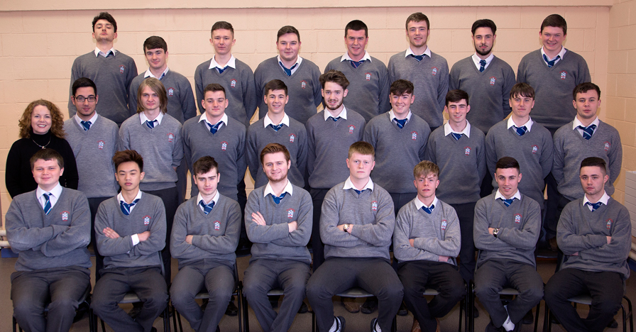 6.3 2016 Class   Front Row: Dara Rohan, Pete Guay, Michael Ryan, Andrew Kinch, Shane Lynch, Ben Sommerville, Jordan Smith, Nathan Seery.  Middle Row: Ms. Flood (Form Tutor), Francisco Prieto-Bacho, Graham Fagan, Thomas Dillon, Carl Monaghan, James Healy, Taylor Holcroft, Danny Smith, Gary Maher, Ian Connor  Back Row: Luke Cormican, Ross Nally, Jakub Rusin, Stephen Newman, Kieron McLeer, Shane Morgan, Darren Holcroft, Darragh McCann  Absent: Peter Hangurbadzo, Ruairi Murphy