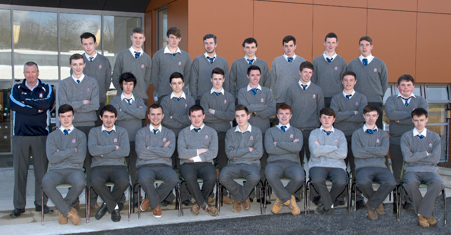 6.3 2015 Class   Back Row: L-R Jack Reilly, Cillian Hickey, Stephen Carolan, Eoin Munster, Daniel Becker, Emmet Meegan, Mark Gallagher, Conor Dolan.  Middle Row: L-R Mr David Madden, Joseph Kavanagh, Raphael Duff, Daniel Ludlow, Peter Roden, Sean Carroll, Sean Fanning, Ciarán Tracey, Emmet McCann.  Front Row: L-R Jason McKeown, Daniel Byrne, J.P. Kierans, Ciarán Conway, Michael Walsh, Adam McGinn, Adam Thomson, Aaron Kelly, Sean Brennan.