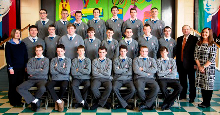 Leaving Certificate 2014 Class   Back Row, L-R: Hayden Walshe, Dylan Collins, Jogn Connolly, Chad Thornton, Ciaran Downey, Cathal Downey, Conor Farrell.  Middle Row, L-R: Ms O'Doherty, Nikita Semjonovs, Dean Heery, James Rice, Dean Rooney, Ryan Coyle, Matthew Halligan, James Reilly, Ryan Boylan, Mr Mansfield, Ms McNamee.  Front Row, L-R: Patryk Wolski, Aaron Ryan, Daryl Clarke, Ross Guildea, Ross Gerrard, Anthony Mc Manamon, Dylan Farrell.
