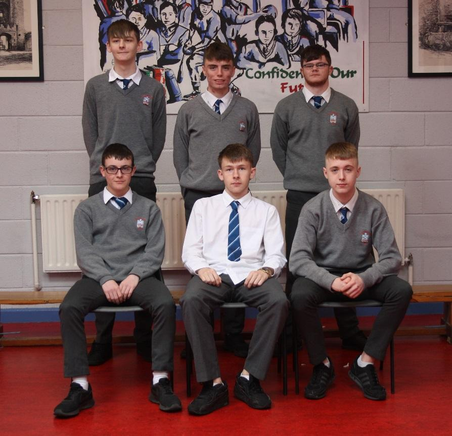 LCA 2 2019    Front row (L-R):  Jason Andrews, Jamie Brady, Joshua Levins   Back row (L-R):  Steven Corr, Tadhg Everitt-Thompson, Dylan Clarke   Absent:  Jason Bourne, Cian Leonard, Cian Mooney, Thomas Mooney, Miroslav Oracko, Marc Rath