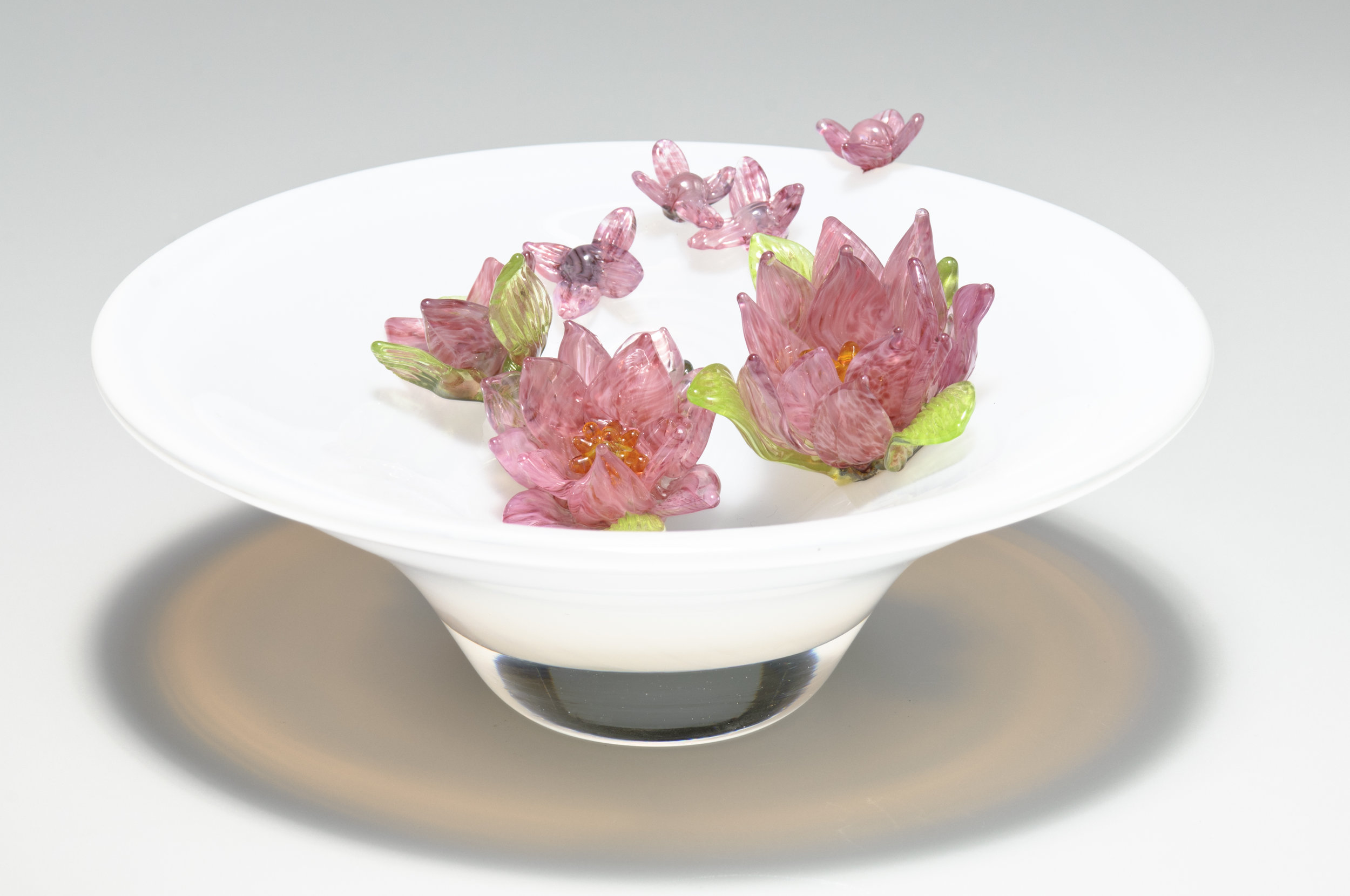 Water Lilies in a Bowl