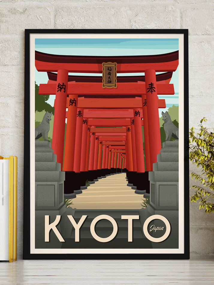 kyoto travel poster