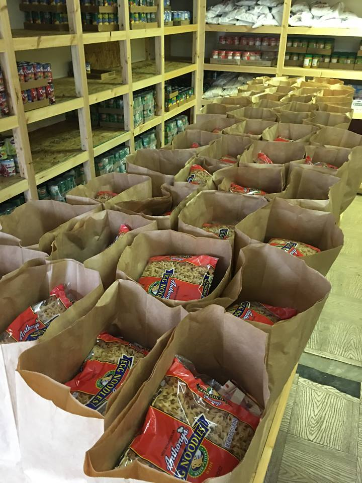 OUR FOOD BANK GIVES OUT AN AVERAGE OF 140+    BAGS OF GROCERIES PER MONTH