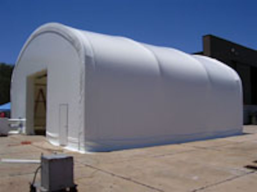 The US Navy Surface Warfare in Panama City, FL needed a maintenance building for a new tank that they are testing for amphibious operations. This fabric structure shelter is near the water and allows them to do trial runs, bring it on ground, work on it, and put it back in the water, all in record time. This fabric building also has lights and air conditioning.