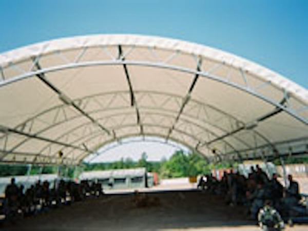 When the Army need additional training space for our troops, they turned to Shelter Structures, Inc. This fabric building was erected in Ft. Gordon, GA. Shelter Structures specializes in portable structures which can be moved to any site on the base.