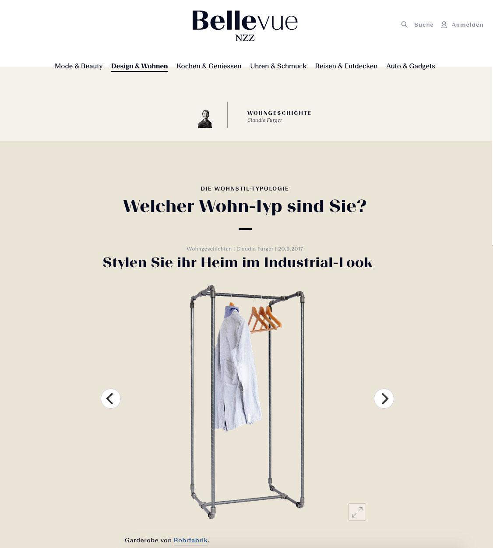 Garderobe rohrfabrik NZZ Bellevue - Ausgabe: 20.09.17Hier gehts zur NZZ Page