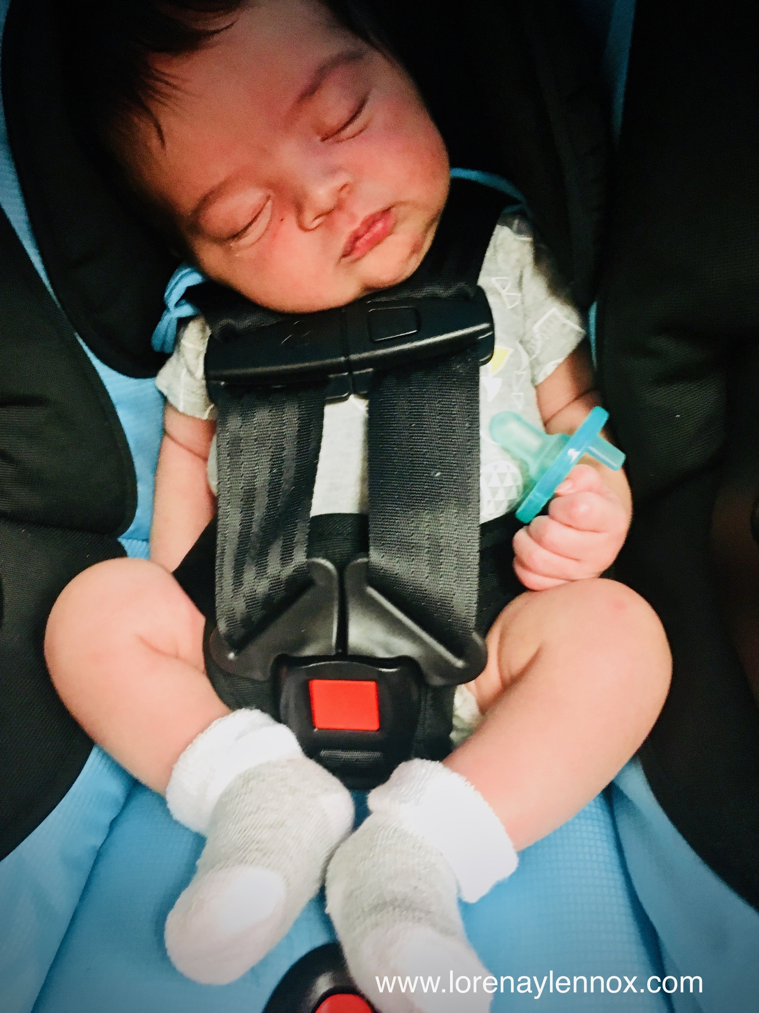 Lennox in his Britax B-Safe 35 Infant Carseat