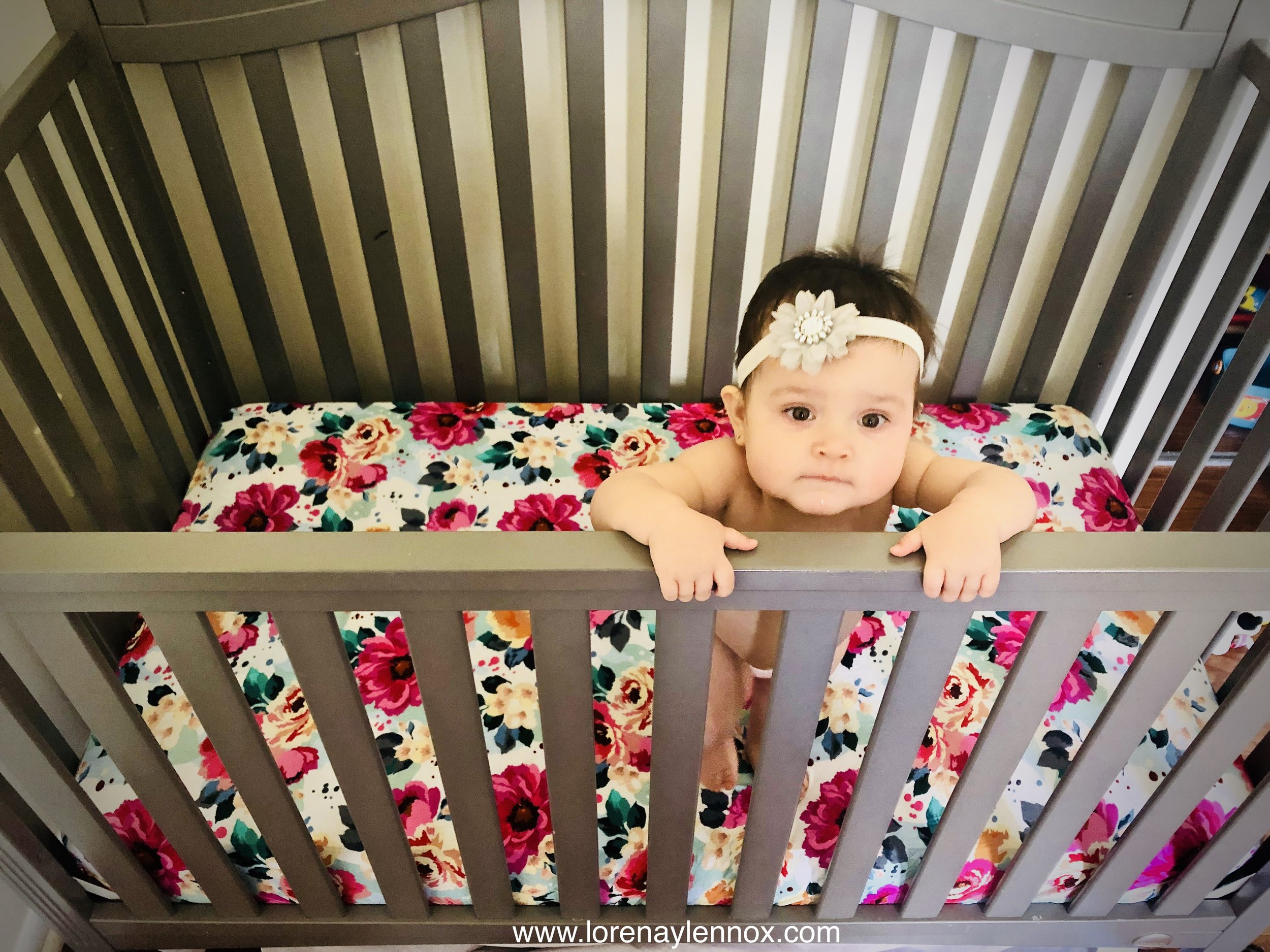 Fuchsia Wild Flower Crib Sheets. The softest cribs sheets ever.
