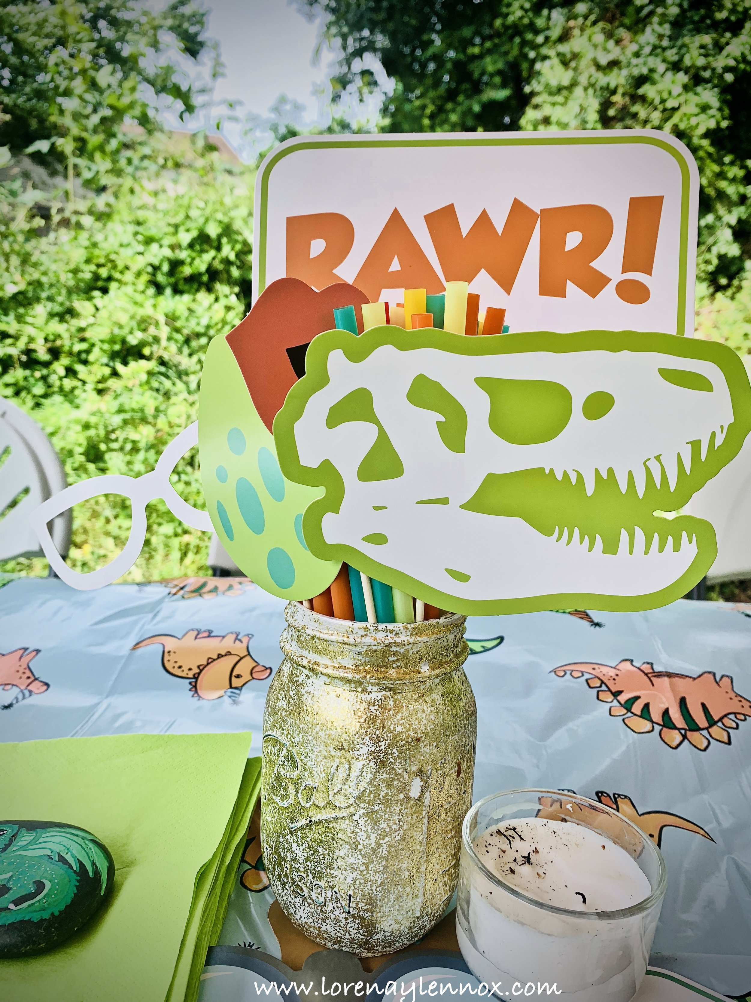 Dinosaur Centerpieces/Photo Booth Props