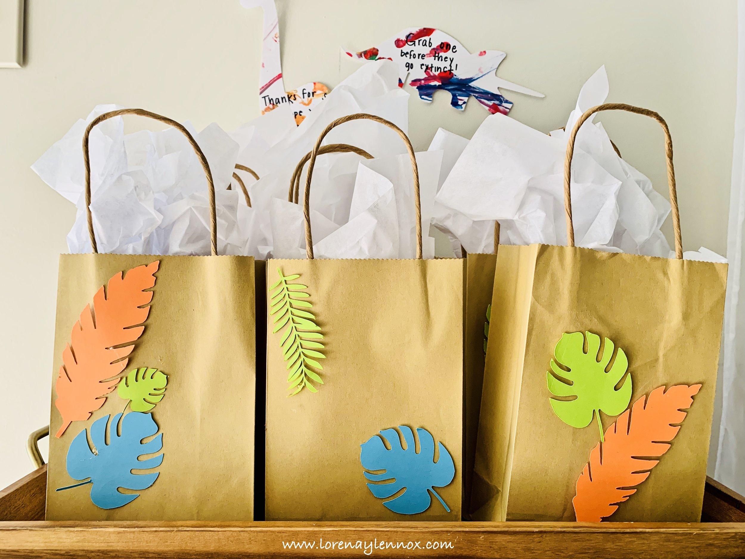 Dinosaur goody bags
