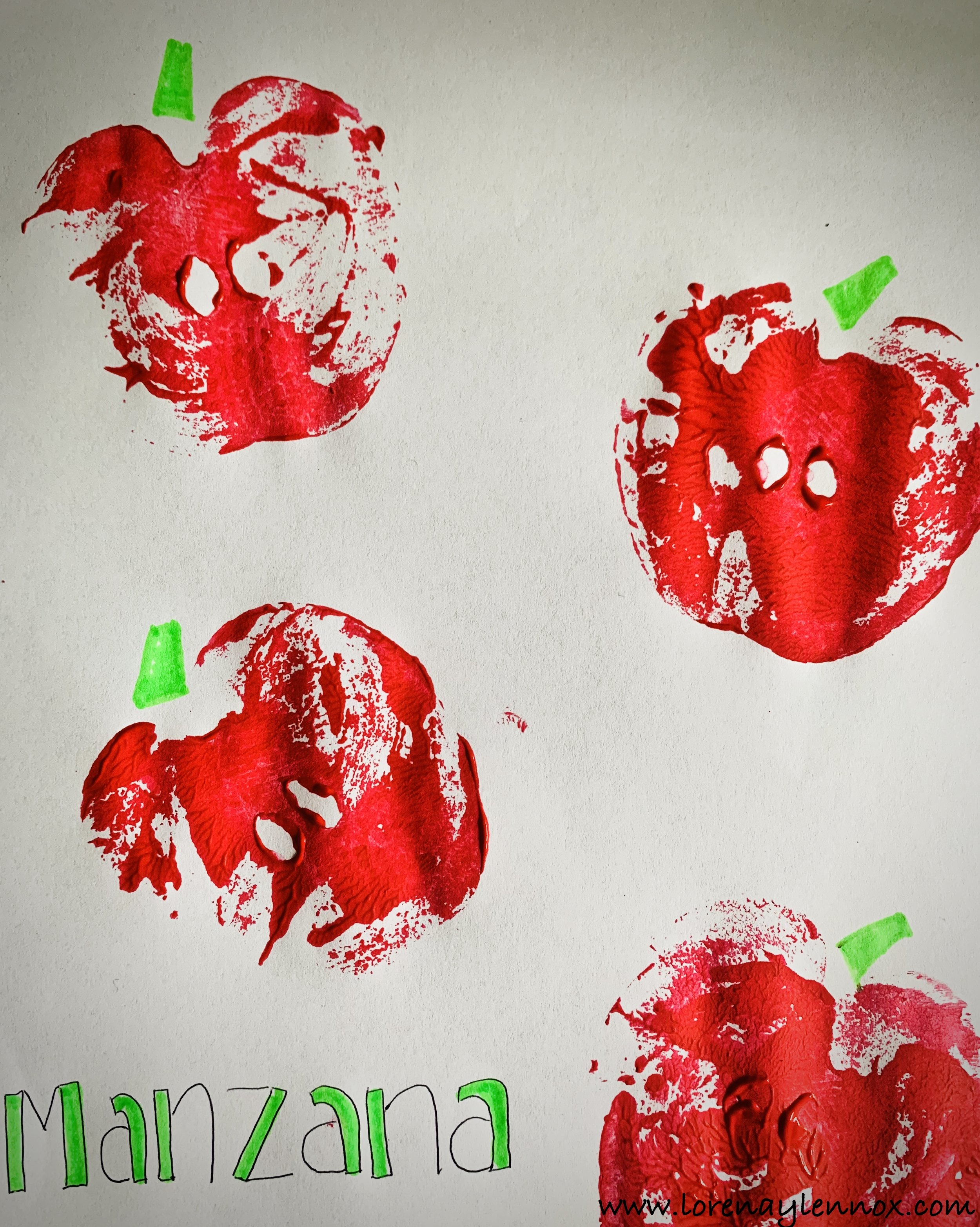 Easy Fall Apple Stamp Craft for Toddlers