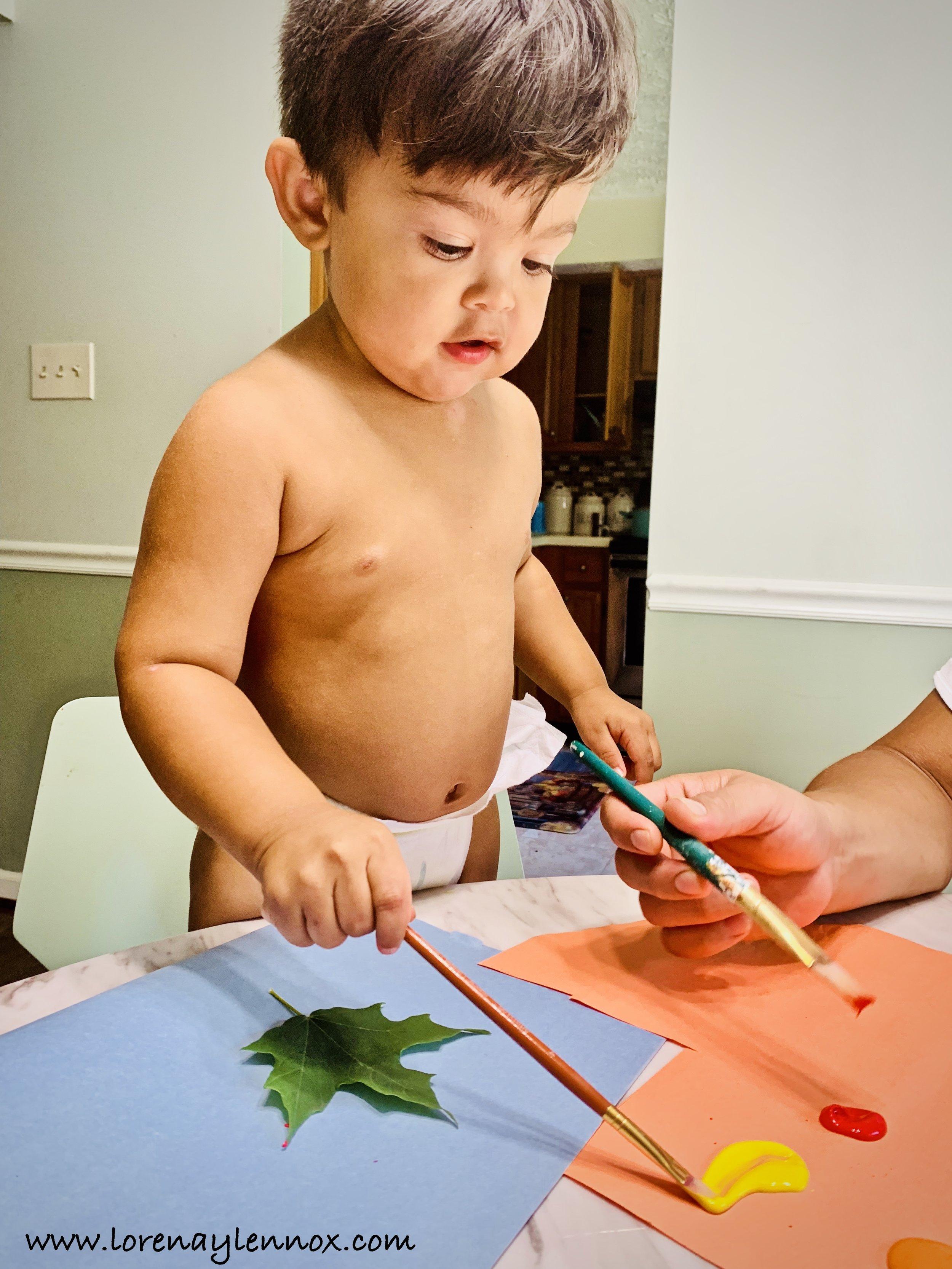 Fall Toddler Leaf Imprint Craft