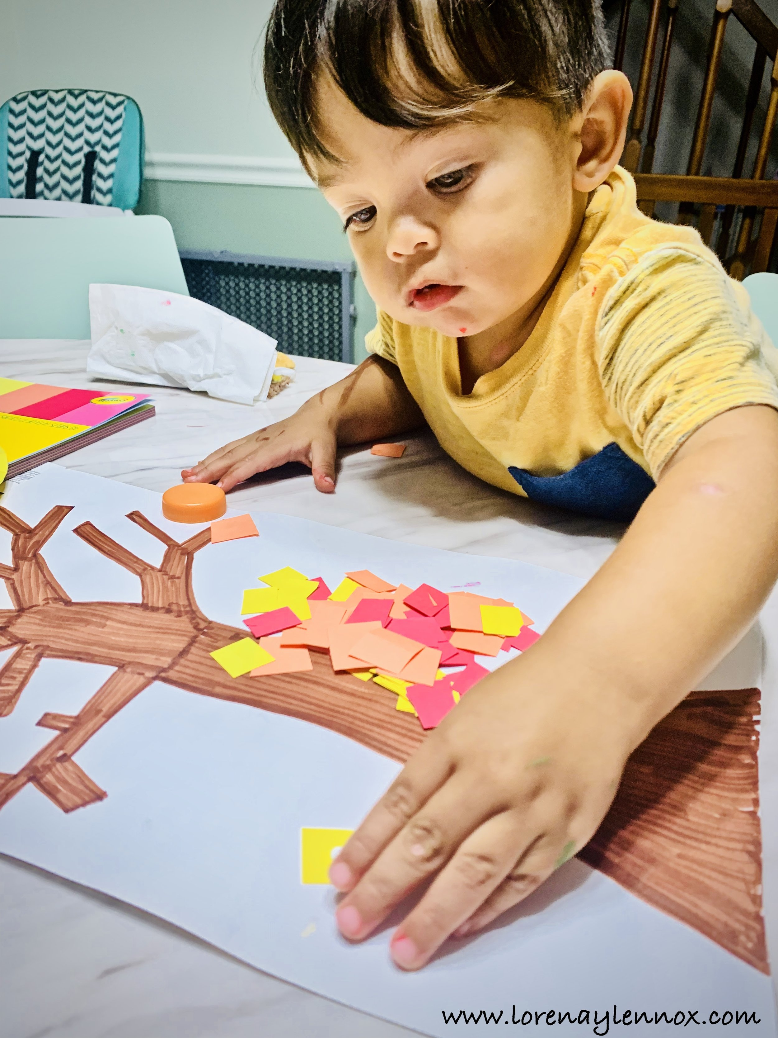 Pin the leaves toddler fall craft