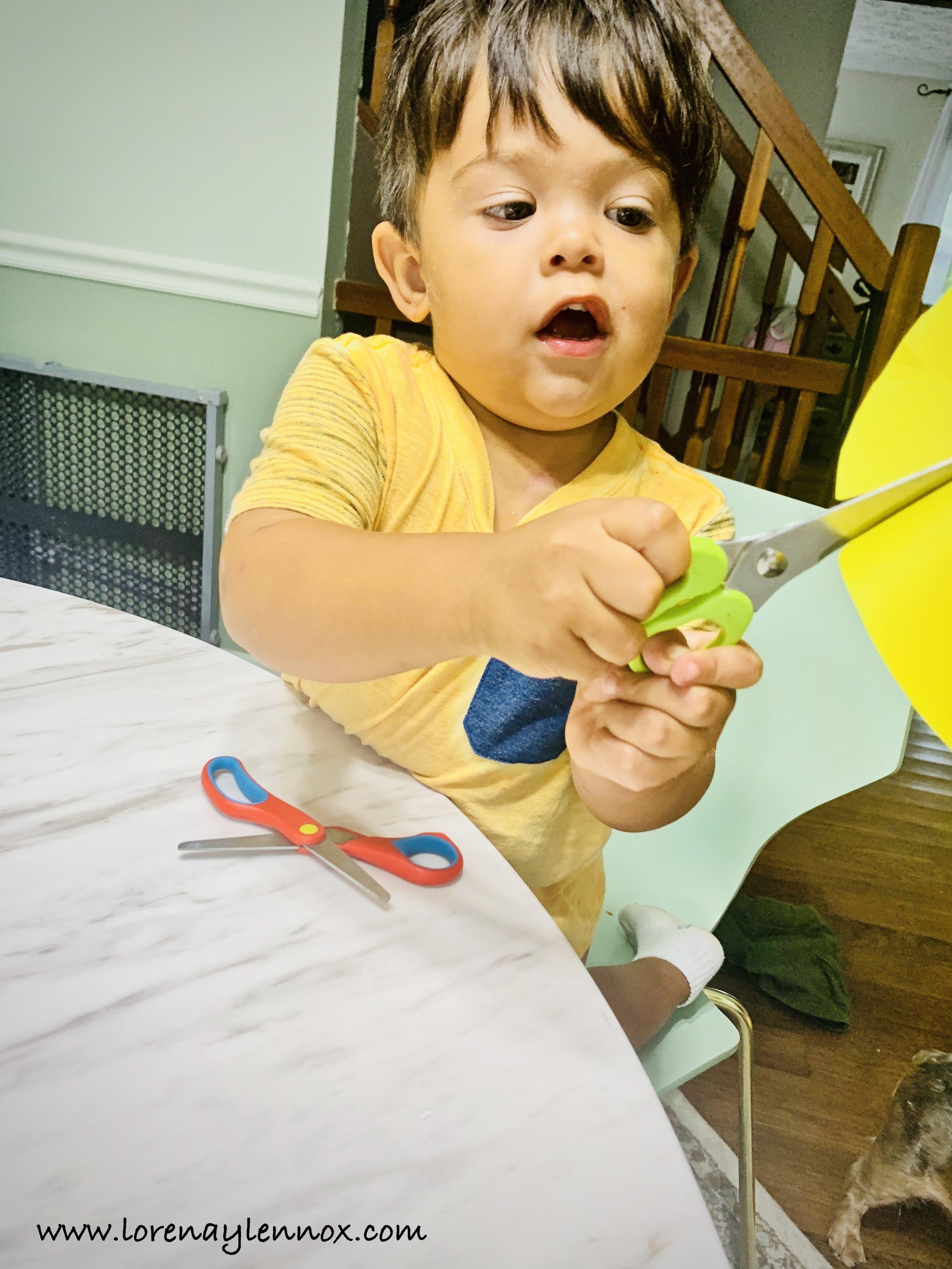 Toddler Paper Sunflower Fall Craft
