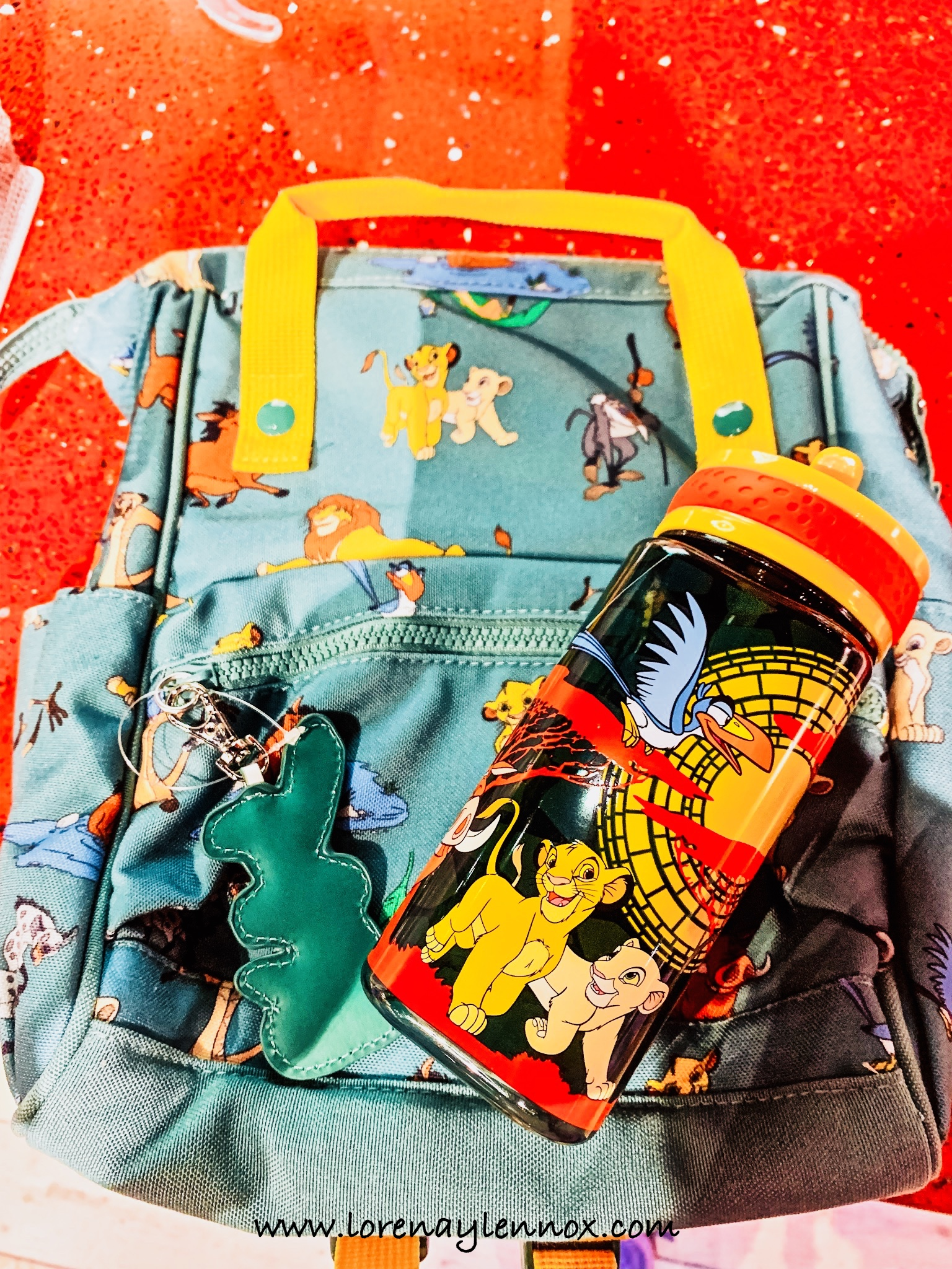 Lennox's backpack and sippy cup for preschool