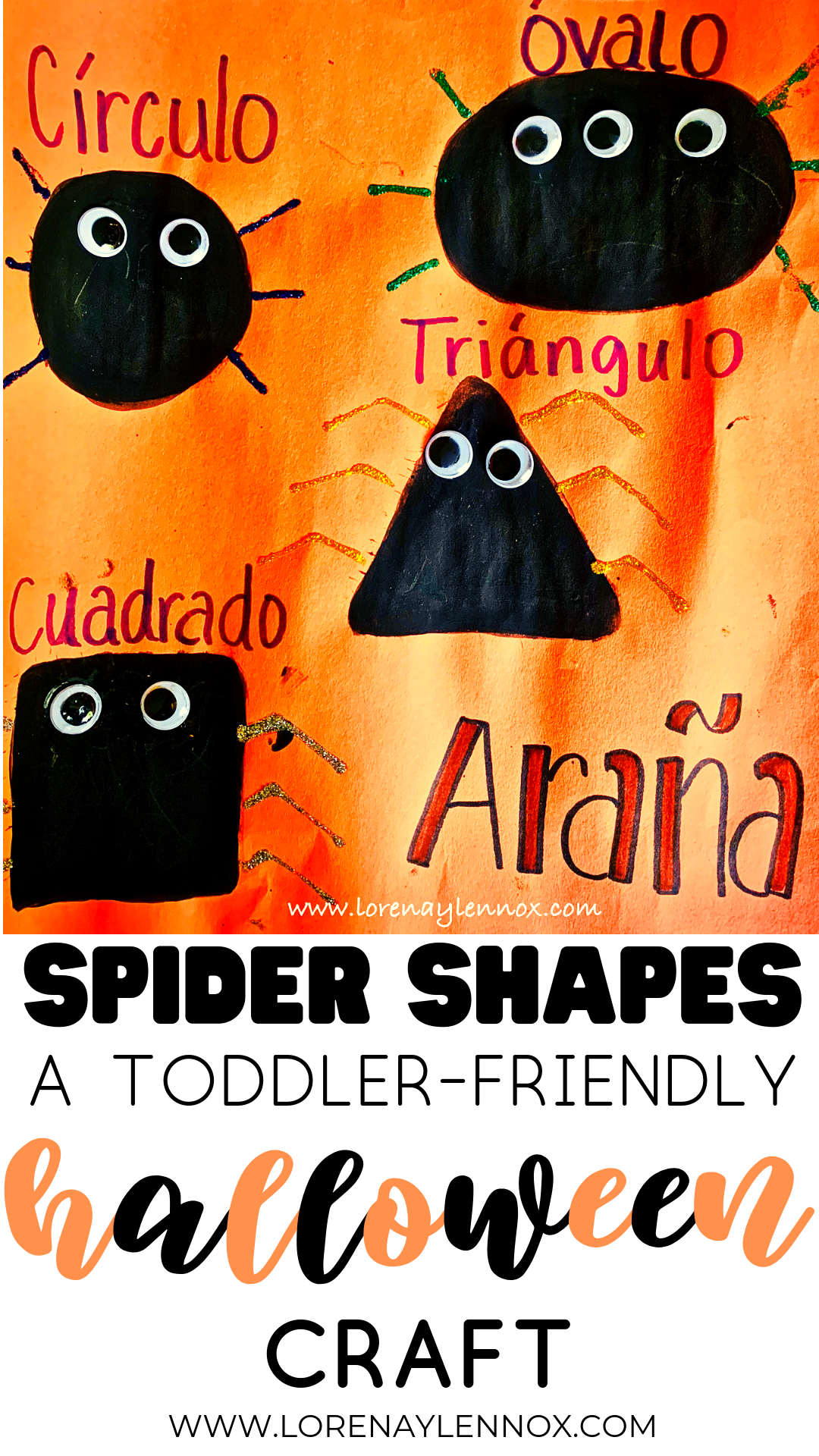 Spider Shapes. A toddler-friendly Halloween Craft