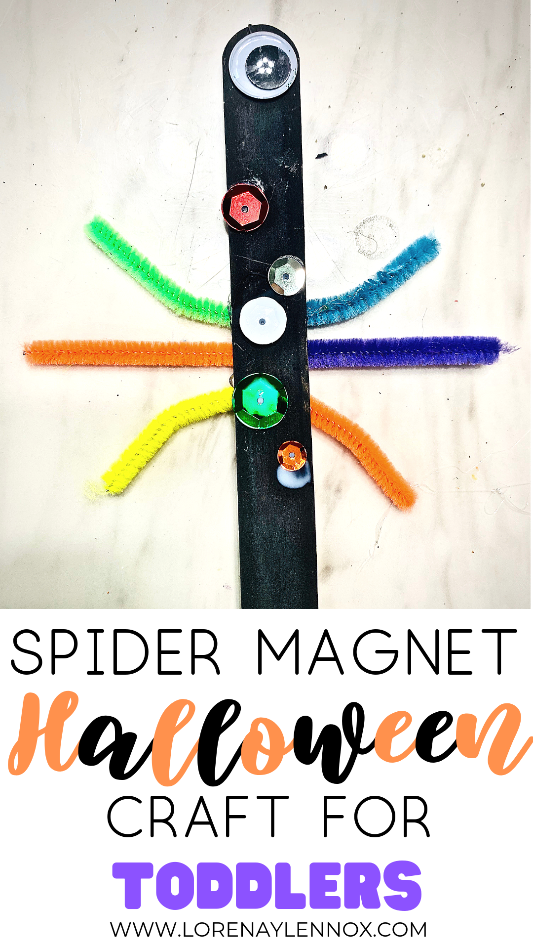 Spider Magnet Halloween Craft for Toddlers