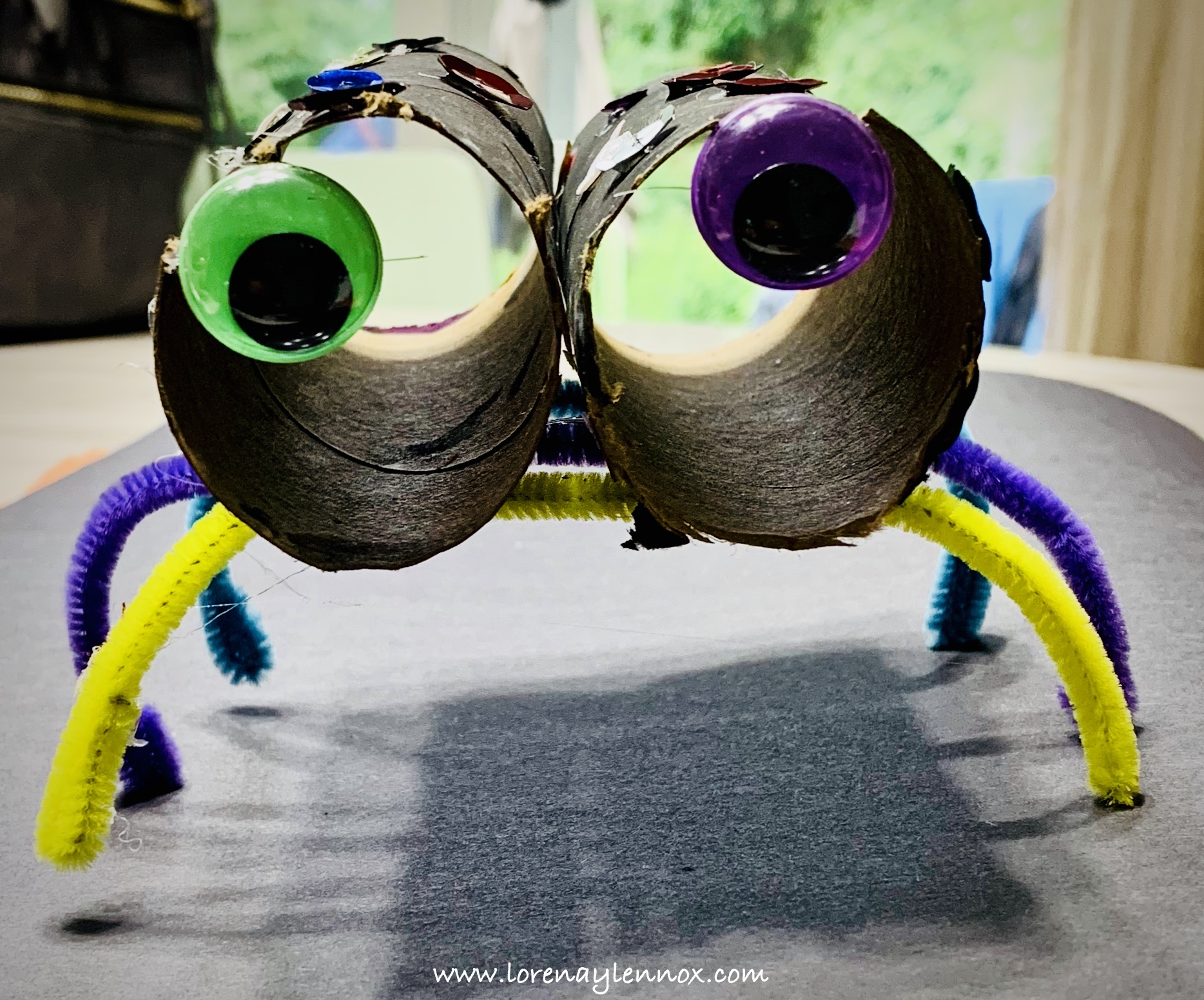 Spidernoculars Halloween Toddler Craft