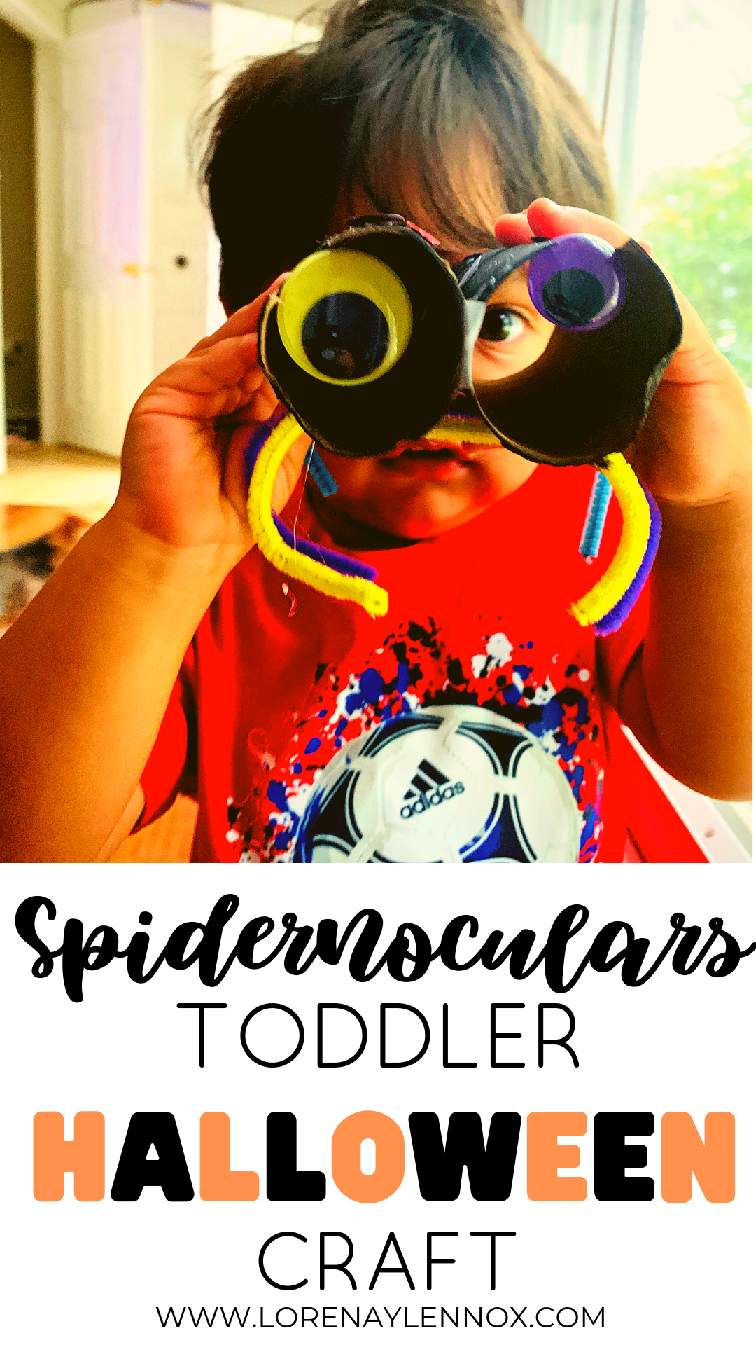 Spidernoculars Toddler Halloween Craft