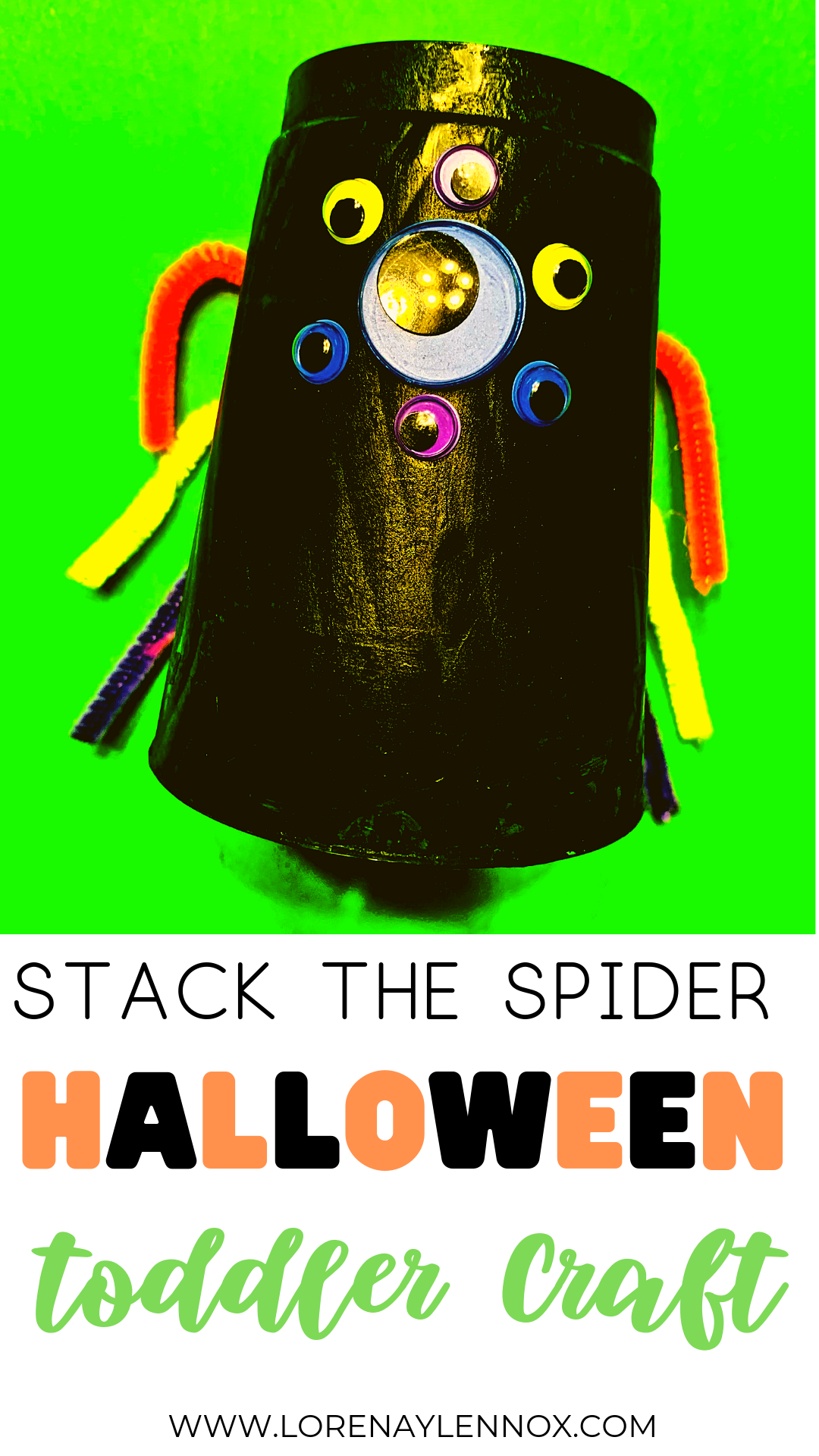 Stack the Spider Halloween Toddler Craft