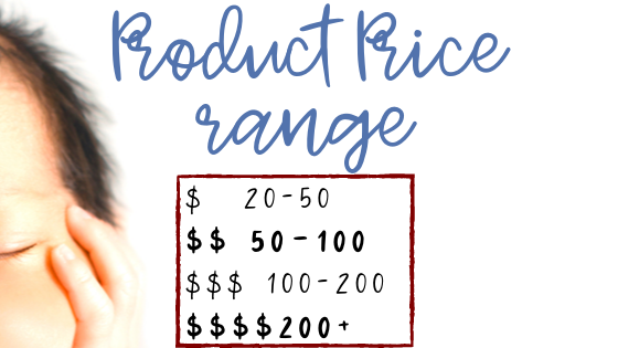 Product Price Range of Baby Products on the Ultimate Baby Registry Printable by Lorena & Lennox